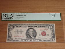 1966A $100 One Hundred Dollar Legal Tender PCGS 40 Extremely Fine Elston-Kennedy