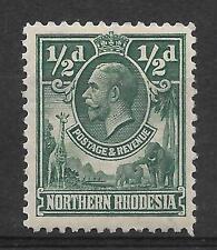 N.RHODESIA, KGV 1925 ISSUE,  1/2d SG 1 M/MINT