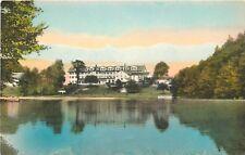 DB Postcard NY F310 The Campbell Inn from Across the Lake Roscoe New York