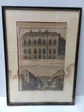 Antique Framed Architectural Print