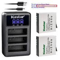 Kastar Battery Triple Charger for Xiaomi YI AZ16-1 AZ16-2 Yi 4K Action Camera