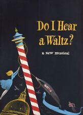"Sondheim  ""Do I Hear A Waltz?""  Souvenir  Program  1965  OBC   Sergio Franchi"