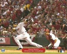 MANNY RAMIREZ 8x10 ACTION PHOTO @Busch Stadium w/Matheny RED SOX BEAT CARDINALS!