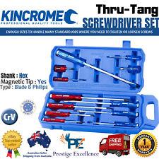 New Kincrome 12 Piece Screwdriver Set THRU-TANG Go Through Magnetic Tip K5058 AU