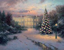 Thomas Kinkade Lights of Liberty 20x24 S/N 9/2000 Limited Canvas White House