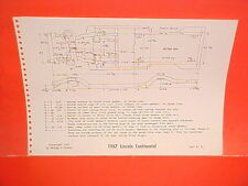 1967 LINCOLN CONTINENTAL CONVERTIBLE SEDAN HARDTOP COUPE FRAME DIMENSION CHART