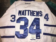 Auston Matthews Signed Toronto Maple Leafs Jersey Superstar MVP Beckett