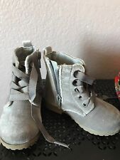 Toddler Size 5 Grey Velvet Boots