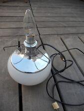 Pied lampe boule verre et métal chromé vintage 60/70