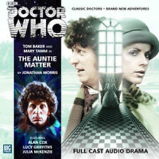 DOCTOR WHO Big Finish Audio CD Tom Baker 4th Doctor #2.1 THE AUNTIE MATTER (new)