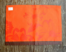Le Jacquard Francais Argentine Tangerine Orange Floral Placemats - Set of 4