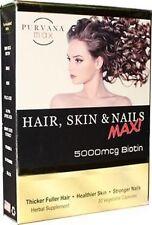 Purvana MAX Hair, Skin & Nails 30-Caps  Ships Fast Same Day 5000 Biotin