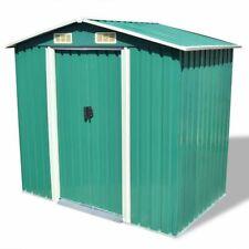 """vidaXl Garden Storage Shed Green 80.3""""x52""""x73.2& #034; Garage Tool Storage House"""