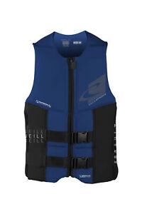 O Neill Assault FZ USCG Life Vest U38-Dayglo-Black XXL