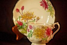 Royal Albert Flower of the Month Chrysanthemum Cup and Saucer- handpainted
