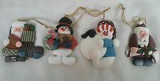 Christmas ornaments 4  Happy Harvest clay ornaments Snowman ,Santa Claus