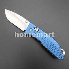 Sanrenmu 7063AUC-LI 7063 EDC Folding Knife 8Cr13MoV Upgrade of LB763 Bottle BLUE