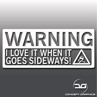 I Love It Sideways Funny Novelty Car Vinyl Decal Euro Dub JDM Window Sticker