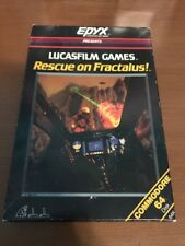 Rescue on Fractalus Game for Commodore 64 Epyx Diskette