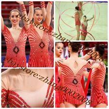 rhythmic gymnastics leotard.Aerobic gymnastics Baton competition dance RG custom