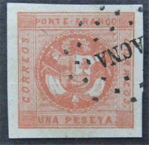 nystamps Peru Stamp # 4 Used $160    L30y978