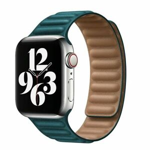 For Apple Watch Leather Magnetic Loop Band 42mm 38mm 44mm 40mm Series 6/5/4/3/2