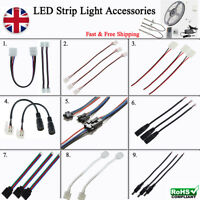 LED Strip Light Connector Cable Adapter Clip Solderless Part & other parts