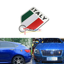 Italy Green White Red Flag Badge For Italian Cars Alpha Abbas Maserati Fiat, etc
