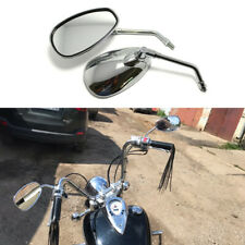 Chrome Motorcycle Rearview Mirrors 10mm for Yamaha Draga 400 V Star 250 650 HG
