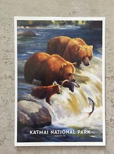 Postcard ~15x11cm USA Katmai National Park