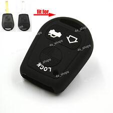 3 Button Black Silicone Cover Key Case Shell For BMW E31 E32 E34 E36 E38 E39 E46