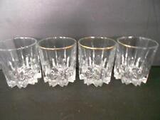SET 4 CRYSTAL COCKTAIL DOUBLE OLD FASHIONED GLASSES 10 oz