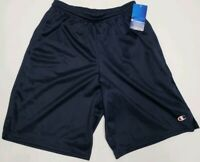 Champion Men's Long Mesh Shorts Blue Small S Basketball Athletic Stretch