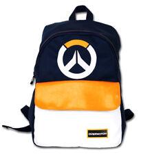 Overwatch Navy Gamers Laptop Student Backpack School Bag Anime Kawaii Unisex