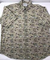 Columbia Flyfishing Fishing Casual Shirt Short Sleeve Men's Size XXL 2XL