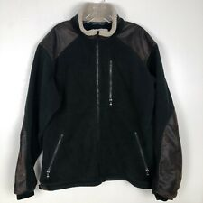 Kuhl Mens L Jacket Black Fleece Faux Leather Sherpa Accents Alpenwurx Warm Coat