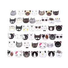 45x Katze Kopf Papier Aufkleber Dekoration DIY Tagebuch Etikett Geschenk SH