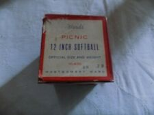 """Vintage in the box Montgomery Wards ""Wards"" 12 inch Picnic Softball Collectible"