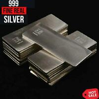 10g Fine Pure Silver 0.999 Bar Scrap Ag Material Real Silver Bullion Plate