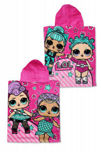 LOL Surprise Girls Summer Holiday Beach Hooded Poncho Towel