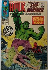 Tales to Astonish #95 (Sep 1967, Marvel), VFN-NM, Incredible Hulk & Sub-Mariner