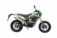 K-Sport Motard Motorrad - 125 ccm Crossbike EURO 4 Grün/Weiß