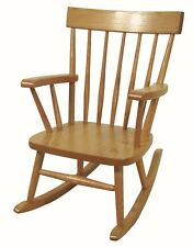 Childs Comb Back Rocking Chair Amish Made Solid Oak Wood Kids Rocker!