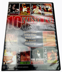 10 Kung Fu Classic Movies DVD R4 M PAL with Tracking