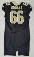 #66 Ben Grubbs of New Orleans Saints NFL Locker Room Game Issued Worn Jersey