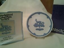 Wedgwood mother plate year 1979 with the original box Pale Blue On White Jasper