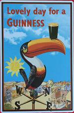 Blechschild Lovely Day for a Guinness Ireland Fussball Toucan Beer Bar Bistro
