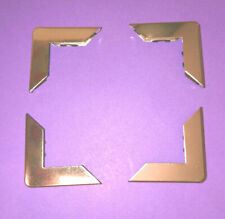 4x SILVER L METAL XL BOOK CORNERS 30mm Side w/ Teeth MENU MYO SCRAPBOOKING CRAFT
