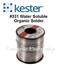 "Kester Solder 24-6337-6422: Sn63/Pb37 .015"" #331-Water-Soluble 3% 1-lb Free Ship"