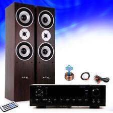 Hifi estéreo Aparato musical Bluetooth USB MP3 AMPLIFICADOR RECEPTOR Marrón